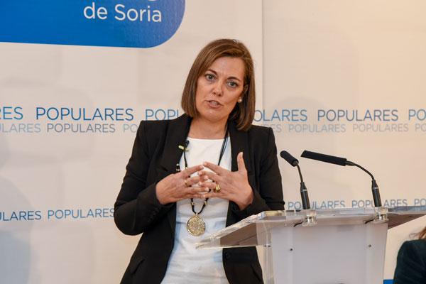 La consejera de Familia hace balance de la legislatura en Soria