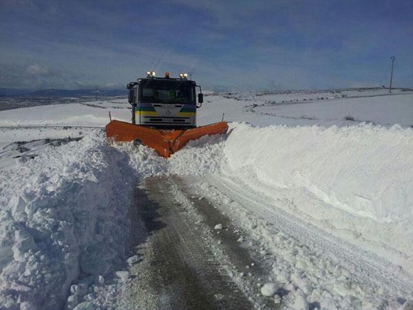 El Plan de Nieve de la Diputación empieza a funcionar