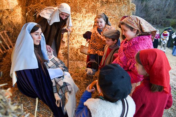 El belén viviente serrano de Oncala antesala de la Navidad en Soria