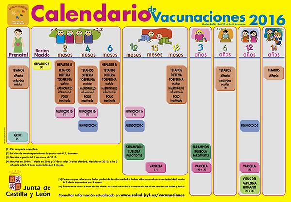 La Junta publica el calendario de vacunaciones de la infancia