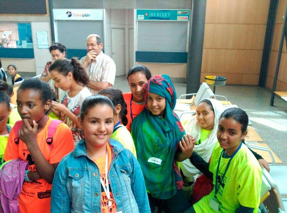 Familias castellano-leonesas acogen este verano a 260 niños refugiados saharauis
