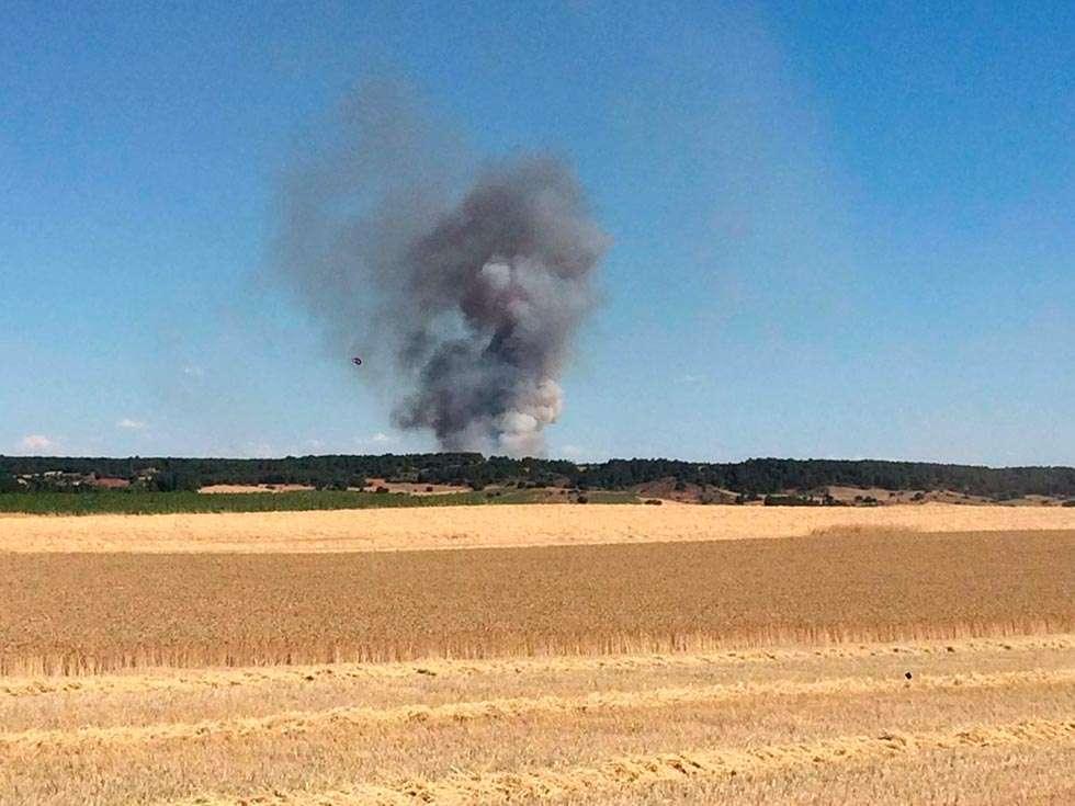 El incendio de Fuentepinilla se salda con 14,6 hectáreas calcinadas