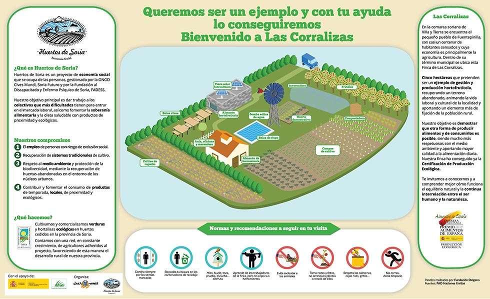 Recorrido interpretativo de la Huerta Ecológica en Fuentepinilla