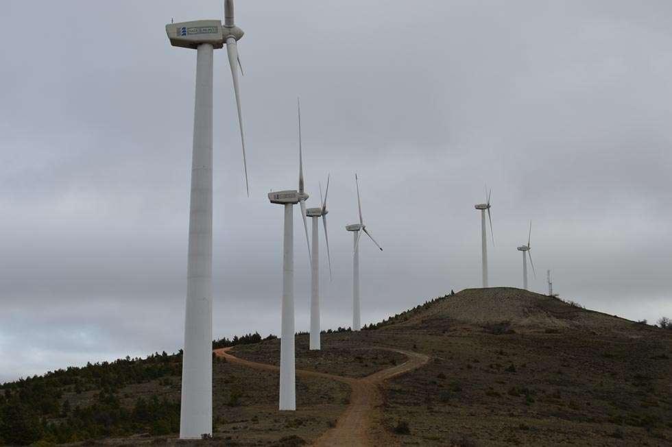 Caja Rural de Soria invita a caminar entre aerogeneradores