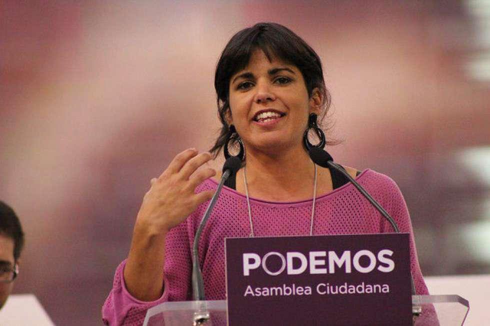 Teresa Rodríguez, en el acto principal de Podemos en Movimiento