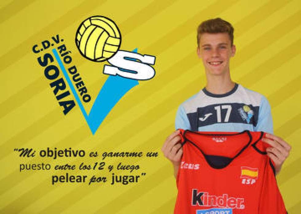 Adrián Olalla, convocado para el Preeuropeo Sub-17 de voleibol