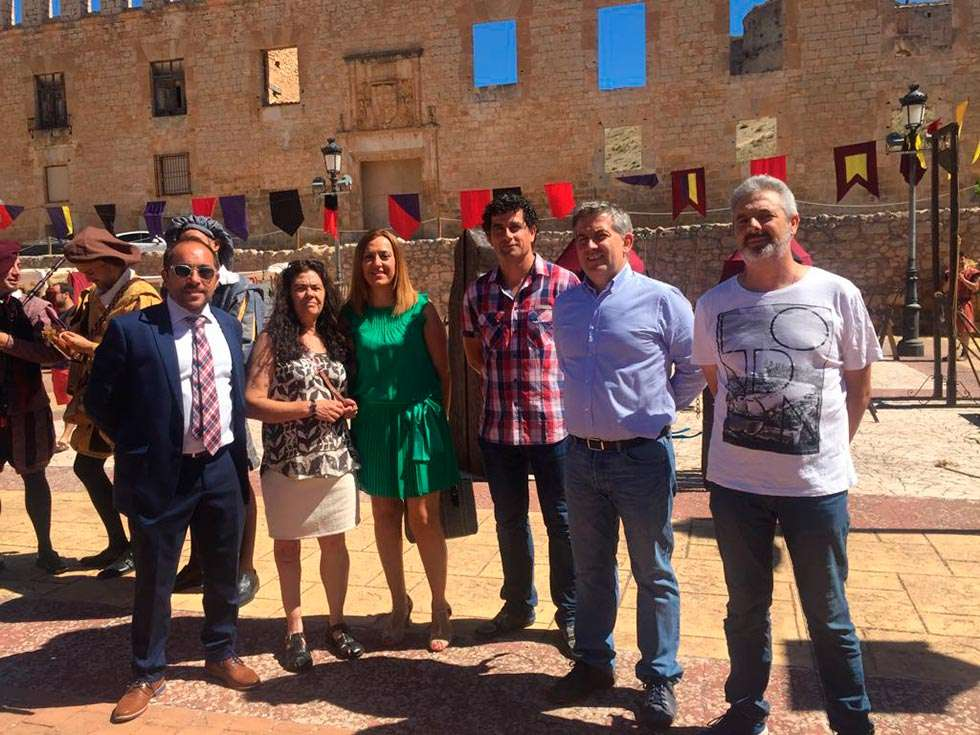 Rey inaugura el XVIII mercado medieval de Berlanga de Duero