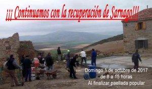 Nueva hacendera en Sárnago para seguir recuperando el pueblo