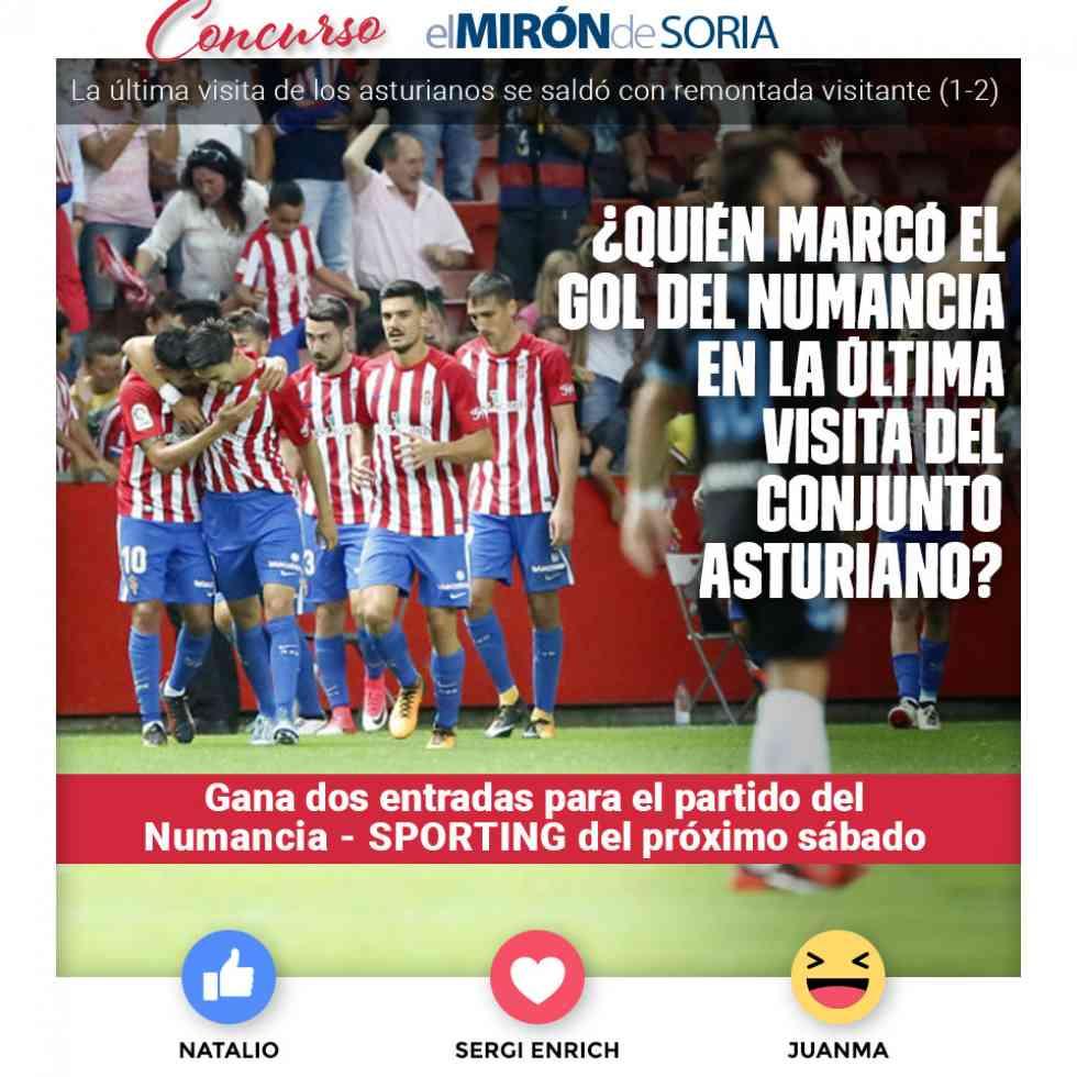Gana dos entradas para ver el Numancia-Sporting de Gijón