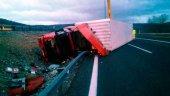 Herido grave un camionero en accidente en la autovía de Aragón