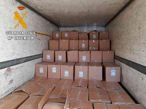La Guardia Civil recupera 130.000 euros en pantalones en Arcos de Jalón