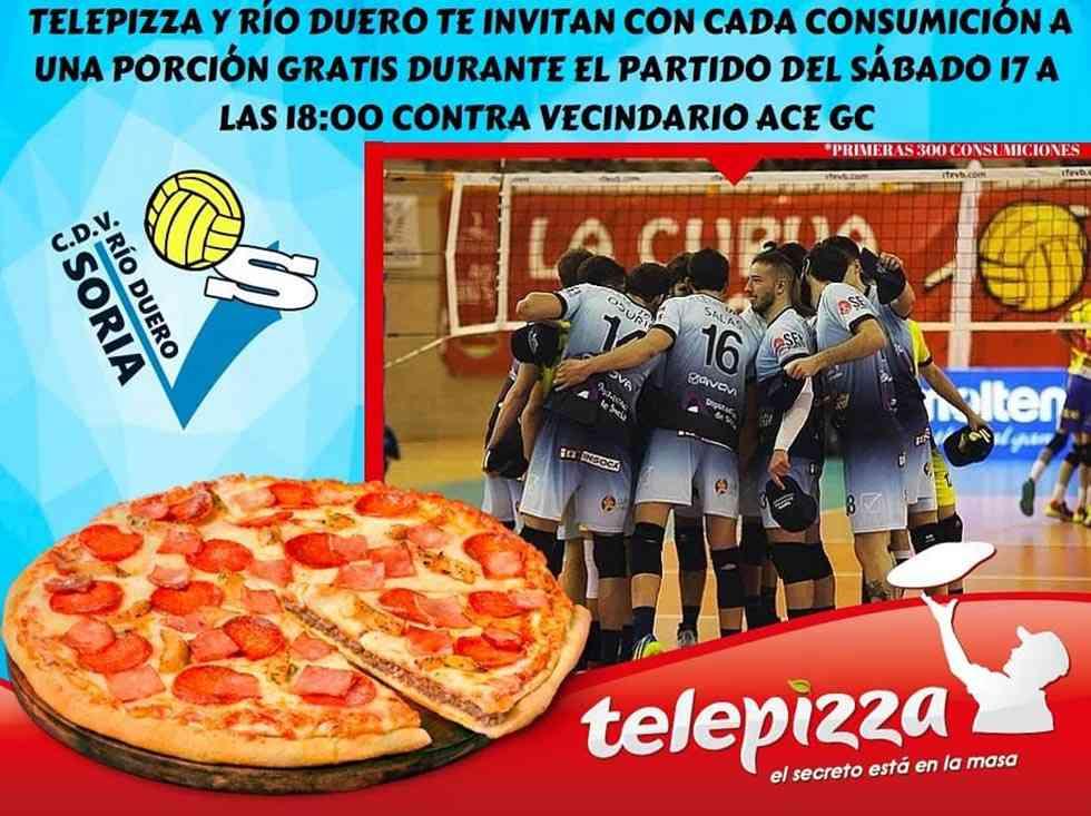 Pizza para incentivar la asistencia a encuentro Río Duero-ACE Gran Ganaria