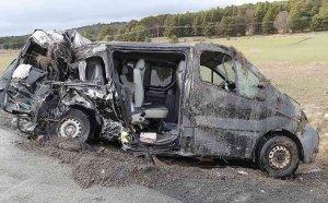 Tres heridos graves, en accidente en Abejar