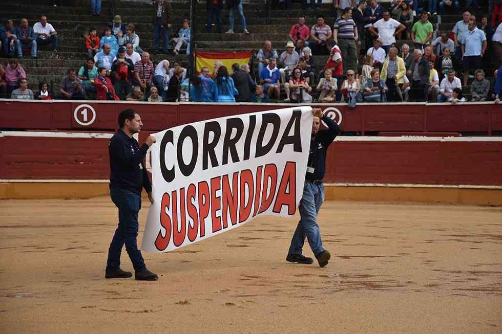 El temporal suspende la primera corrida de los Victorino en Soria