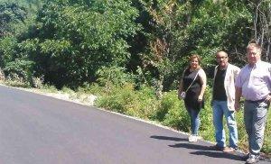 Arreglo de doce kilómetros de la carretera entre Valloria y Santa Cruz