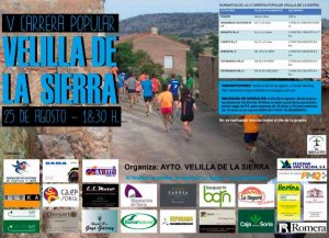 Velilla de la Sierra organiza su V carrera popular