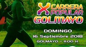 La X Carrera popular de Golmayo será el 16 de septiembre