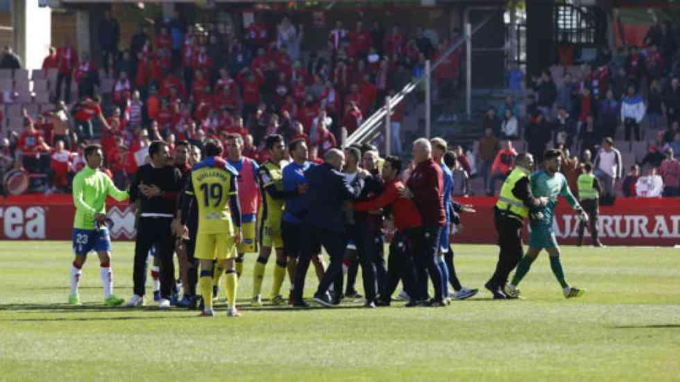 López Garai, expulsado al final del partido en Granada