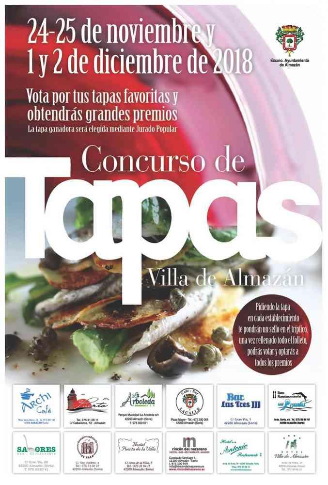 Doce establecimientos en el concurso de tapas de Almazán