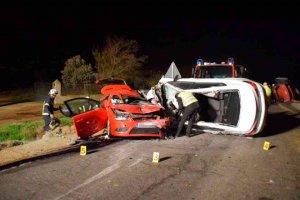 Un fallecido en la N-122, en un accidente entre tres vehículos