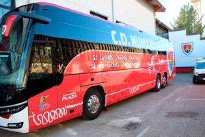 El Numancia estrena diseño en la carrocería de autobús