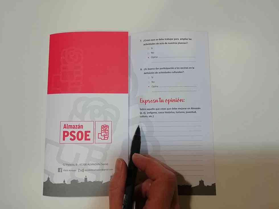 El PSOE Almazán sondea las opiniones de los vecinos