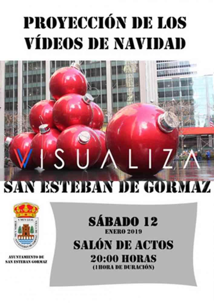Proyección de los videos de Navidad en San Esteban de Gormaz