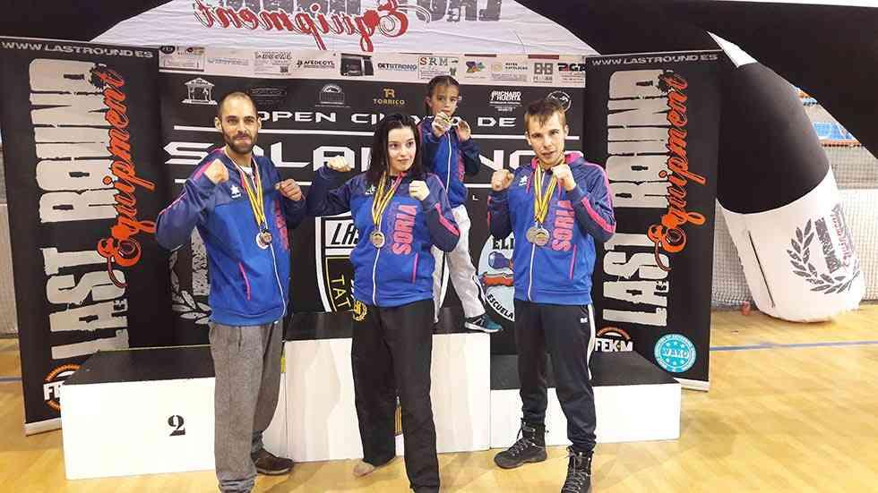 Diez medallas de Kickboxing Soria en Salamanca