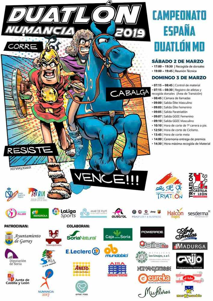 Garray espera el Campeonato de España de Duatlón MD en Numancia