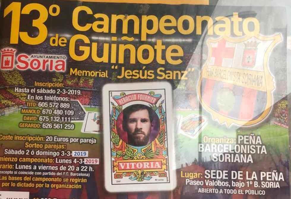 La Peña Barcelonista Soriana organiza el XIII campeonato de guiñote