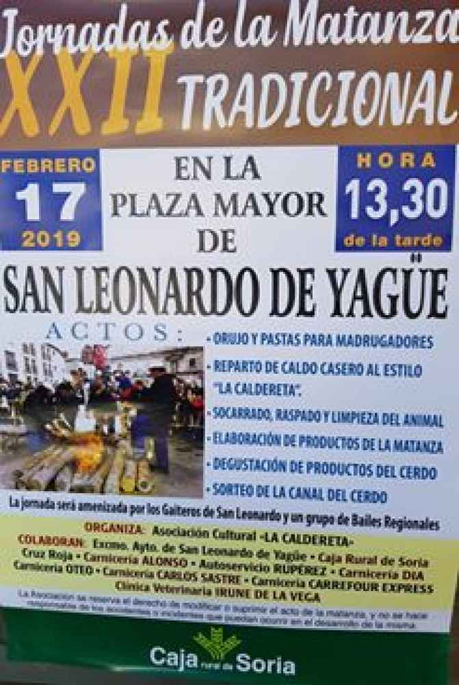 San Leonardo celebra sus XXII Jornadas de la Matanza
