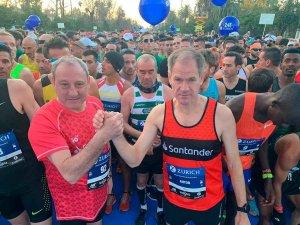 Antón y Cacho en el maratón de Sevilla - fotos