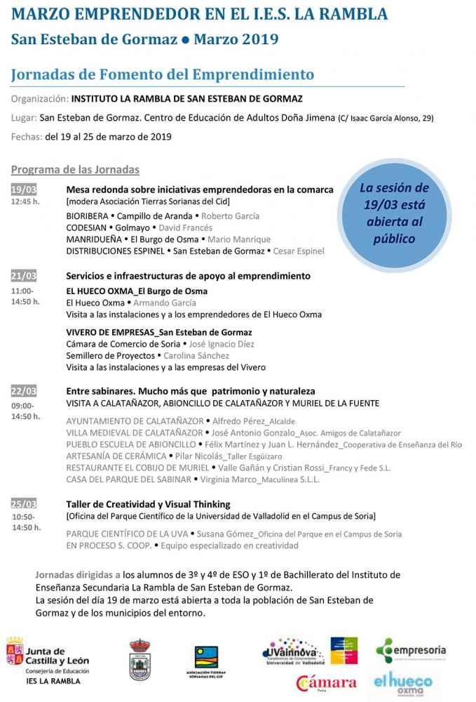 V Jornadas de Fomento del Emprendimiento, en San Esteban de Gormaz