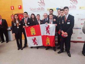 Nueve medallas de los estudiantes de FP en Spainskills 2019