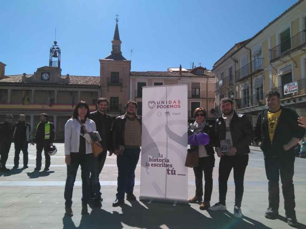 Unidas Podemos, de campaña en El Burgo