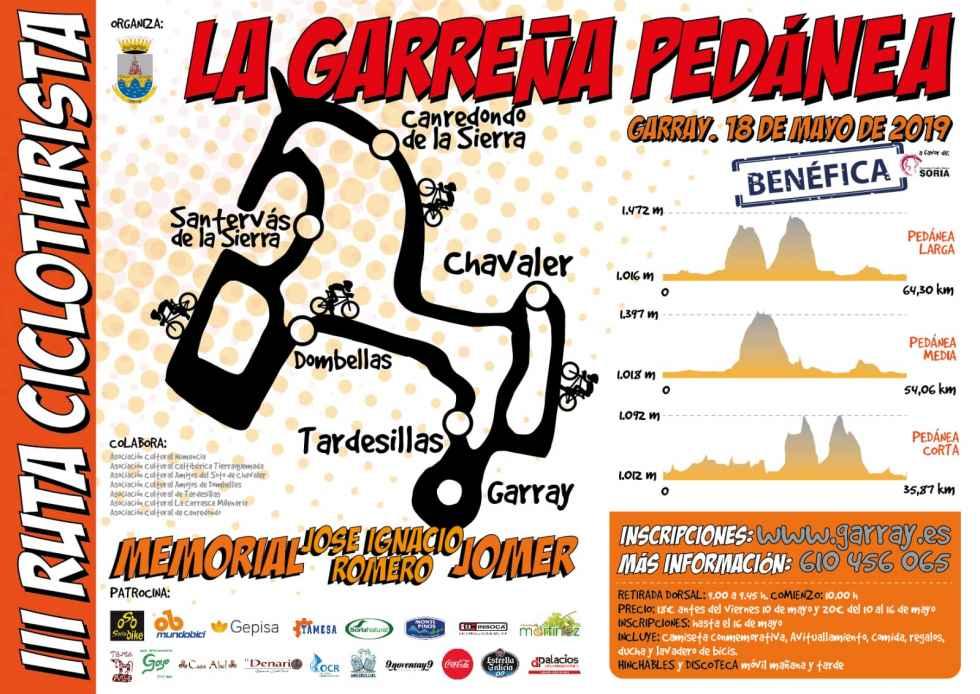 Inscripciones para la III marcha cicloturista Garreña Pedánea