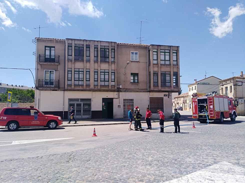 Incendio en una vivienda de Almazán