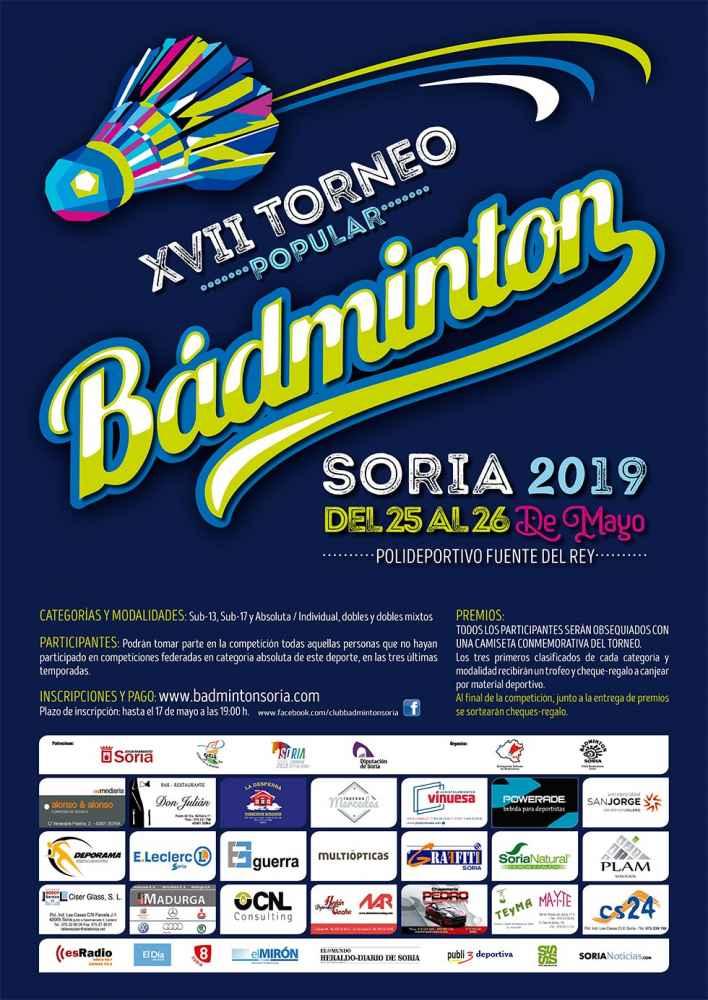 Últimos días de inscripción en Torneo Popular de Bádminton
