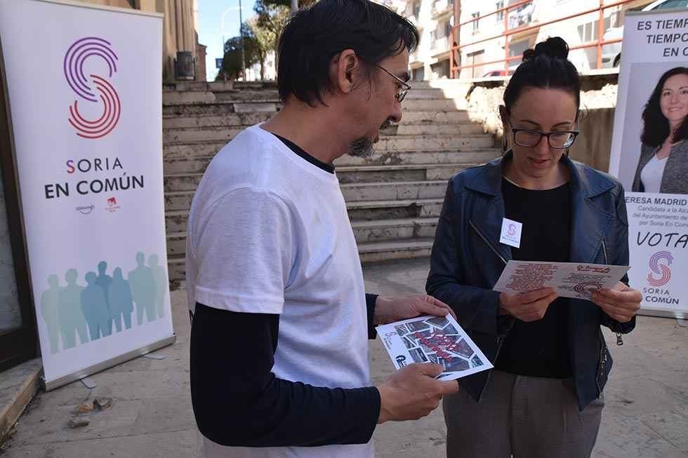 Soria en Común defiende hacer ciudad con mejora de aceras y calles