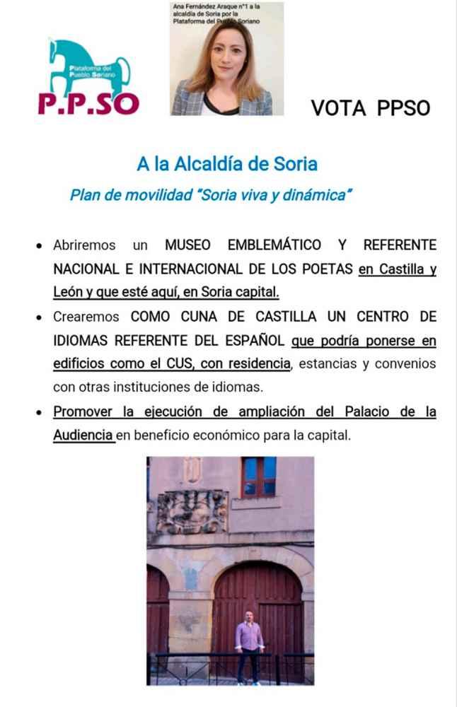 Ana Fernández, de PPSo, explica su programa en un mitín