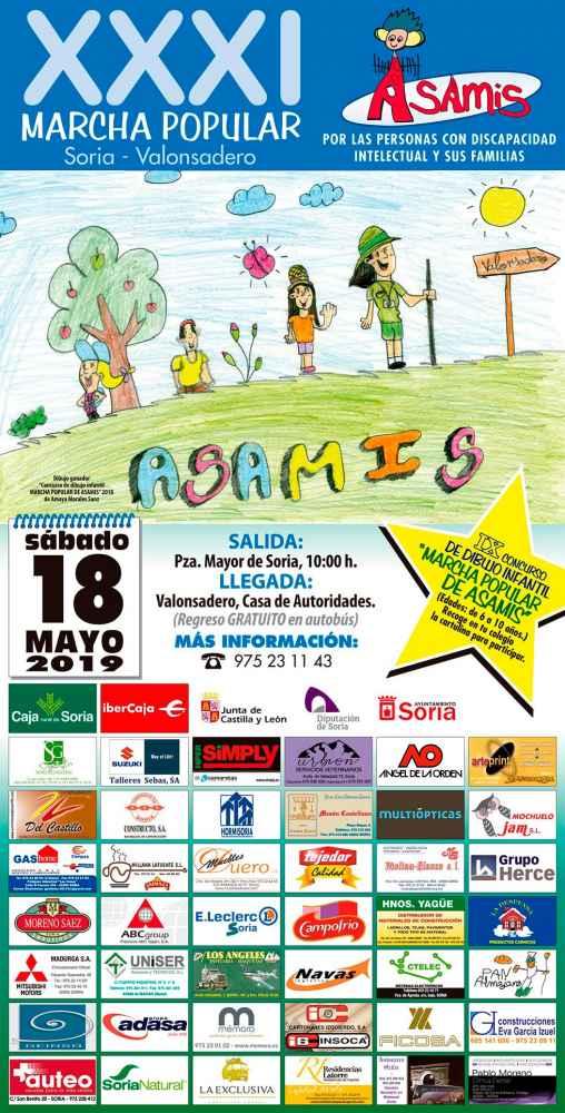 ASAMIS organiza la XXXI edición de su marcha popular