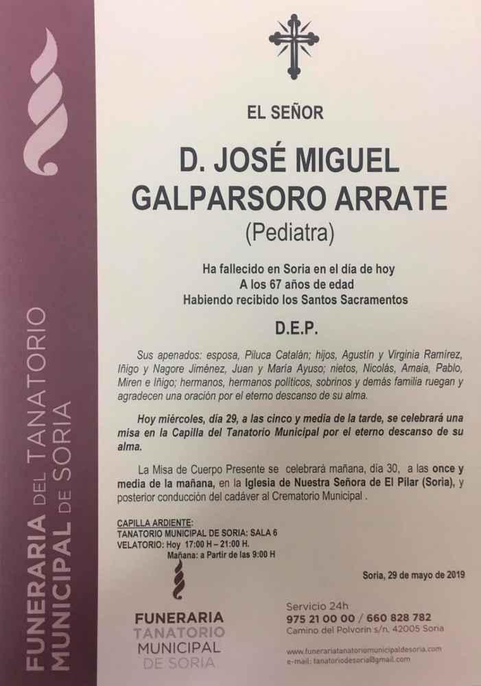Fallece el pediatra José Miguel Galparsoro