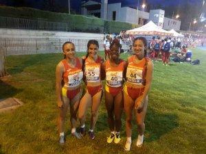 Ashley Abaga, récord de España en relevo 4 x 100 sub 18