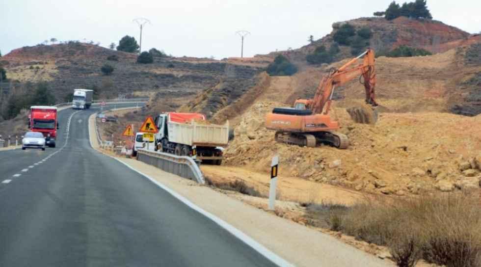 Desvíos en la N-122 por las obras de la autovía del Duero