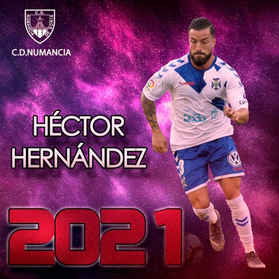 El lateral Héctor Hernández, quinto fichaje del Numancia