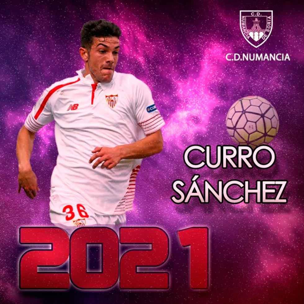 """Curro"" Sánchez, séptimo refuerzo del Numancia 2019-20"