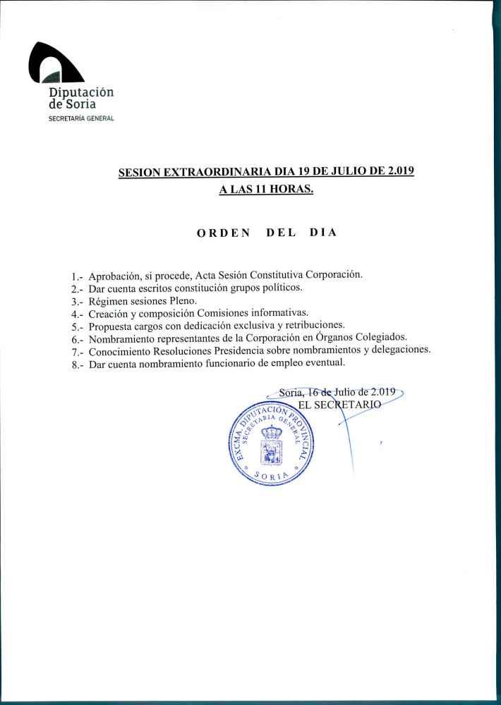 Constitución de las comisiones informativas de la Diputación