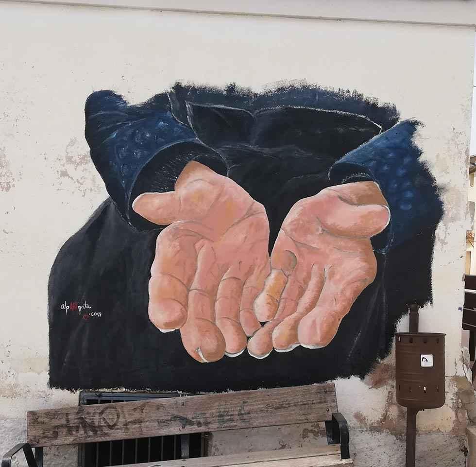Torreblacos inaugura un mural para incentivar la reflexión