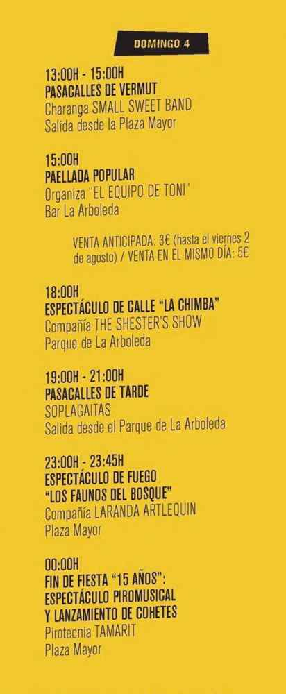 Programa de las fiestas de la Juventud de Almazán