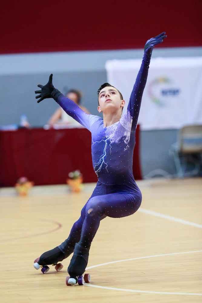 Héctor Díez, campeón de España juvenil de patinaje artístico